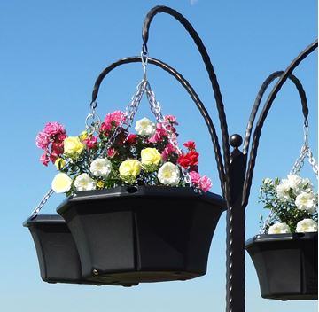 "Picture of 20"" Pagoda Hanging Basket"